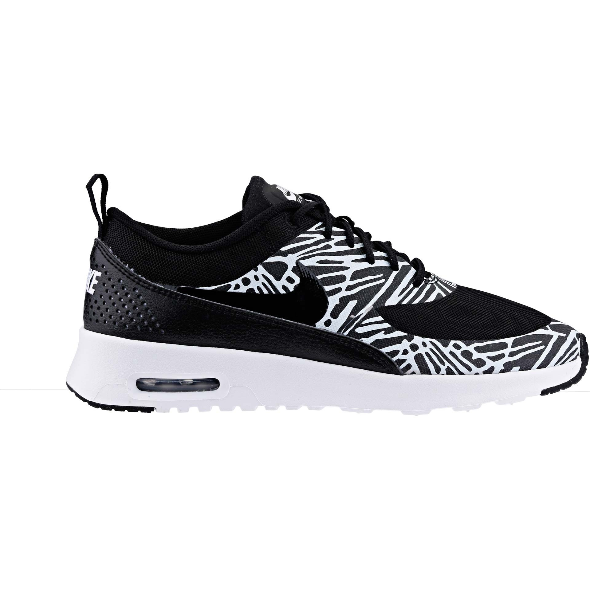 Women's Nike Air Max Thea Print Running Shoes Black/White/Metallic Silver 599408-010